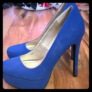 "something BLUE 4"" heels only worn once!"